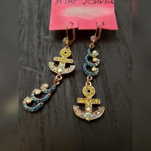 Betsey Johnson Nautical Boat & Waves Earrings